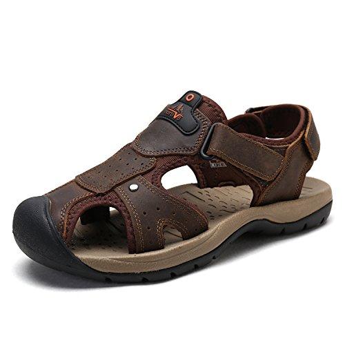 Bruno Marc Men's BANKOK-5 Brown Outdoor Fisherman Sandals Size 11 M ()