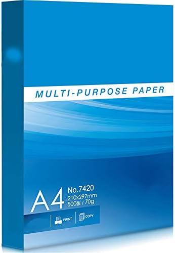 Druckerpapier A4 BLTLYX 2500 Blatt / 5 Packungen A4 Mehrzweck-papier Kopie Papier Druckpapier 70g 80g 210 * 297mm 80g 5 Packungen