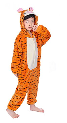 AIMY Shop Animal Cosplay Costume Unisex Teenagers Tiger Homewear For Cold (Jasmine's Tiger Costume)