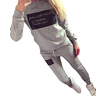 Eshion Ladies Women Two Pieces Long Sleeve Sweat and Pants Outfits Set