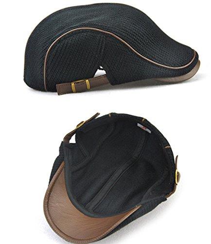 edad sombreros verde hat tejido Sombrero hat mediana mediana man engrosada Halloween CAP de Navidad edad cálido Ocio cap Ocio Black winter cap MASTER beanie qwx47OE8