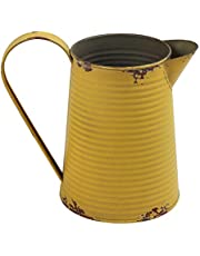 VANCORE Shabby Chic Vase Rustic Pitcher Can Metal Jug Vases Flower Vase Holder Farmhouse Decor