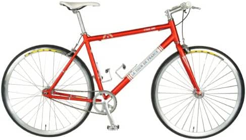 Tour de France  Stage One Vintage Fixie Bike, 700c Wheels,  Men's Bike, Red, 45 cm Frame, 51 cm Frame, 56 cm Frame