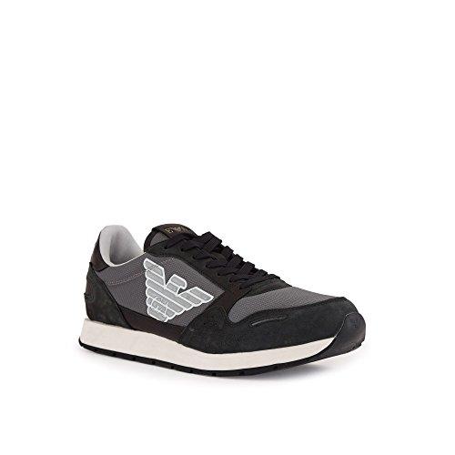 Sneakers GIORGIOARMANI GIORGIOARMANI Pelle Uomo Sneakers Black qgwEO8