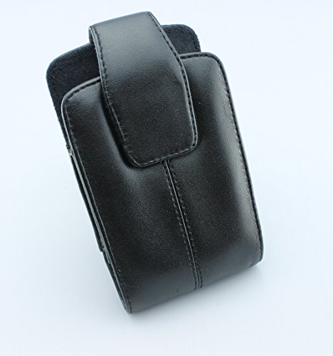 Premium Quality Leather Case Pouch Protection Cover with Belt Clip for Sprint ZTE Score M - BlackBerry Bold 9650 - BlackBerry Bold 9930 - BlackBerry Curve 3G 9330 - BlackBerry Curve 8330 - BlackBerry Curve 8350i - BlackBerry Curve 8530 Aries - BlackBerry Curve 9350 - BlackBerry Tour 9630 - HTC Snap S511 CDMA - Huawei Express - Kyocera Brio S3015 - Kyocera Event C5133 - 8530 Curve Snap