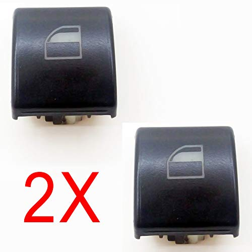 2x Window Switch Button Cap Cover Replacement for BMW 3 Series E46 X5 X3