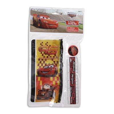 Ruler Disney Cars 4pc Study Kit Eraser Pencil Pouch Pencil Sharpener 43373