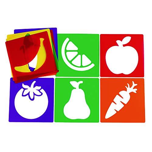 Colorations Fruit & Vegetable Stencils (Item # VEGFRUIT) (Vegetable Paint)