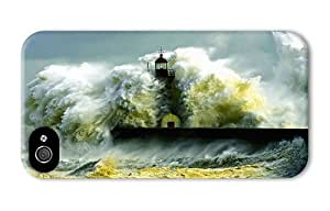 Hipster fashion iPhone 4 covers shore lighthouse surf PC 3D for Apple iPhone 4/4S by Maris's Diary