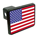 United States USA flag 2″ Tow Trailer Hitch Cover Plug Truck Pickup RV