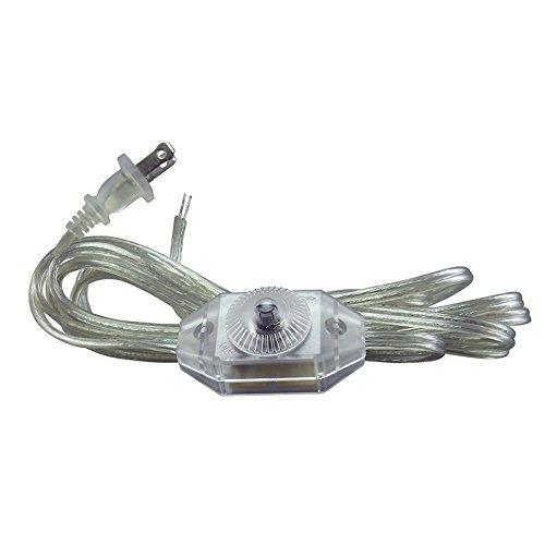 iLightingSupply 56-1934-47 Lamp Cord Set with Full Range Dimmer Installed, , Clear