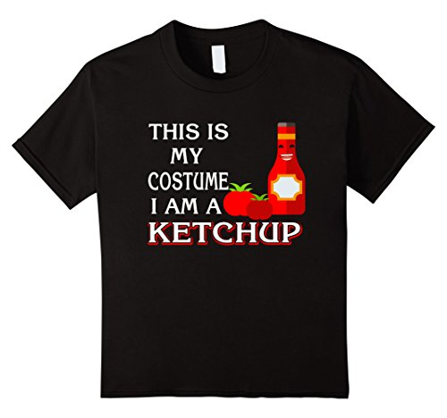 Kids Halloween T-Shirt Cute Ketchup Halloween Lovers Costume Gift 12 (Ketchup Costume For Kids)