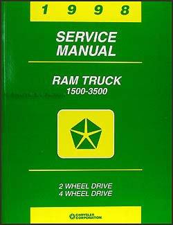 1998 dodge ram truck repair shop manual original 1500 2500 3500 rh amazon com 98 dodge ram 1500 repair manual 96 Dodge Ram 1500