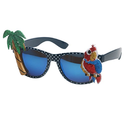 Hawaiian Style Sunglasses Parrot Palm Tree Glasses Fancy Dress Event Festive Accessories Beach Party Supplies Decoration