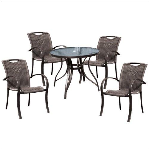igarden アイガーデン ガーデンテーブル椅子5点セット アルミ製 籐風タイプ B00AZKONIU