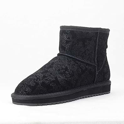 Amazon.com: Fumak Non-Slip Women Snow Boots Cowhide