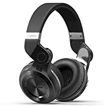 DRUNkQUEEn Bluetooth Headphones, Bluetooth Headset, V4.1+EDR Noise Cancelling Hi-Fi Foldable Built in Microphone Super Extra Bass Stereo Wireless Over Ear Earphone for iPhone Samsung HTC Sony Tablet