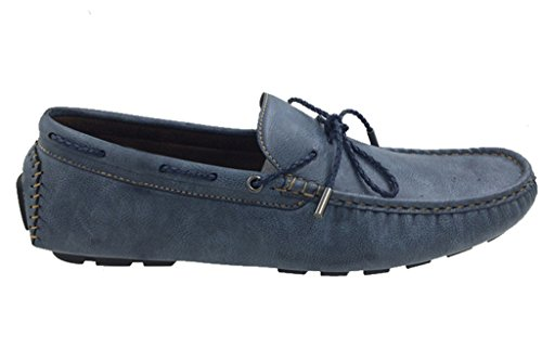 Mecca Mens Lace Slip On Loafer Boat Shoes Navy Blue size - Size Gucci Guide
