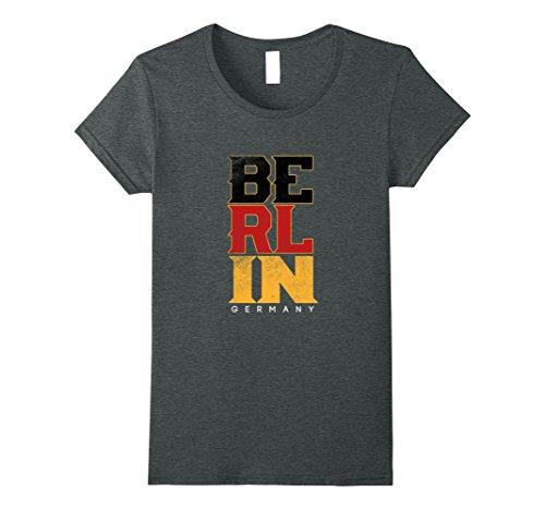 Womens Love Berlin Capital Of Germany Pride Flag T Shirt Patriot Xl Dark Heather