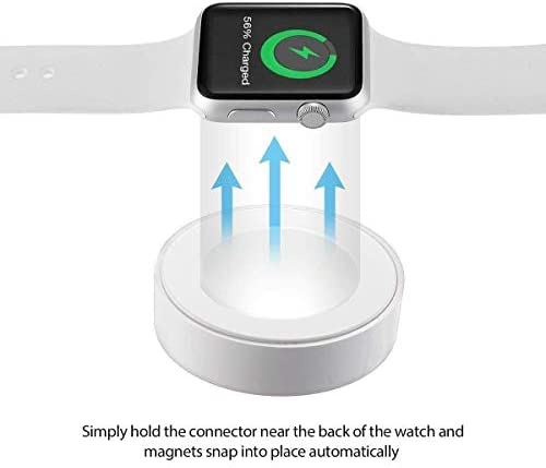 SJCCKJ Smartwatch Magnetic Charging Cable, Wireless Charger Pad Charging Cord Compatible with Apple Watch iWatch 38mm/42mm Series 1/2/3, 3.3 Feet, ...