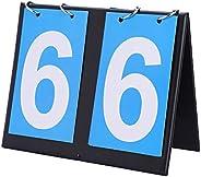 2/3/4 Digit Portable Flip Sports Scoreboard, Portable Table Top Scoreboard Score Flipper 0-99 Multifunctional