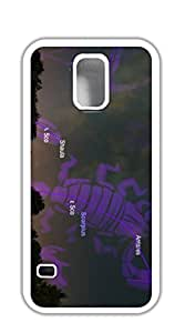 Personalized custom Cover Case with Hard Shell Protection case for samsung galaxy s5 purple - Clear taurus