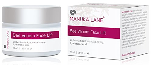 - Natural Bee Venom Face Lift Treatment Cream with Active Manuka Honey, Shea, Cocoa Butter, and Jojoba - Nature's Most Powerful Anti-Aging and Anti-Wrinkle Solution!