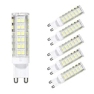 6 Pack G9 LED Bulbs Cool White 7W =60W Energy Saving Light 240V Replace Halogen Lamp 6000K 600lm 360°Beam Angle Non…