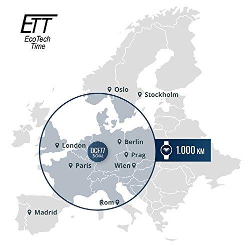 Eco Tech Time soldrivenhet radiostyrd Everest II Gents klocka EGT-11323-10M världstiden