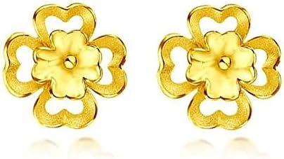 Beydodo Pendientes Mujer Pendientes Oro Amarillo Pendientes de Mujer Pendientes Flor Corazón Pendientes