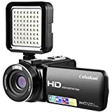 Video Camera CofunKool HD Camcorder 1080P 24MP 16X Digital Zoom Video Recorder with LED Video Light