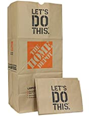 THE HOME DEPOT Heavy Duty Brown Paper 30 Gallon Lawn and Refuse Bags for Home and Garden (15 Lawn Bags)