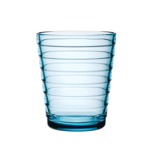 Iittala Aino Aalto Water Glass, 2-pc Set, Drinking Glass, Juice Glass, Glass, Light Blue, 220 ml, 1008549
