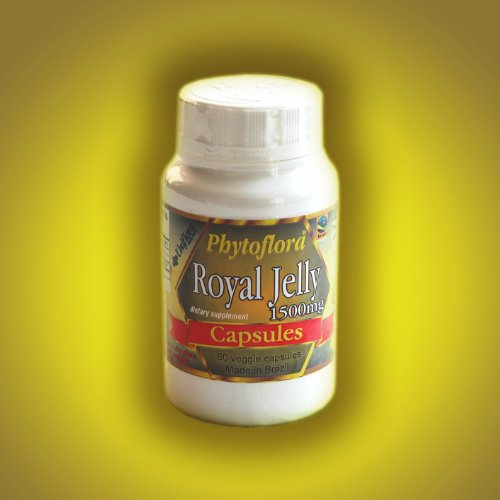 BRAZILIAN PURE UNCONT. ROYAL JELLY 1500 mg 60 VEG. CAPSULES BOTTLE (10 UNITS PACK) by Uniflora