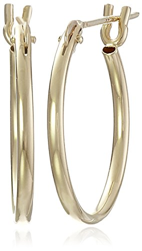 10k Yellow Gold Hoop Earrings,