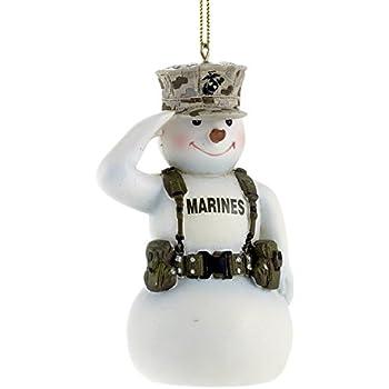 Amazon.com: United States Marine Corps Saluting Snowman USMC ...