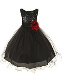 68f09c22b3f Kids Dream Toddler Girls 2T Black Sequin Double Mesh Flower Girl Dress