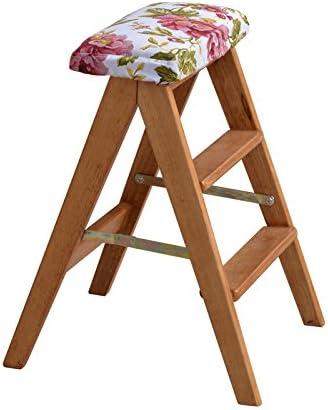 Taburetes escalera Taburete de escalera, taburete plegable, taburete de madera maciza, taburete alto portátil, cocina de espina de pescado para el hogar, taburete alto, escalera de madera plegable de: Amazon.es: Hogar