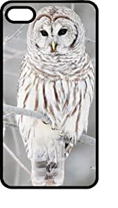 Snow Owl Stalking his Prey Black pc Case for Apple iPhone 4 or iPhone 4s
