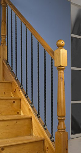 with Brackets Twist Twin Basket Design Wrought Iron Stair Spindles