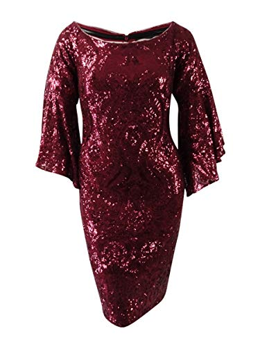 Special Occasion Red Dresses - Betsy & Adam Womens Plus Sparkle