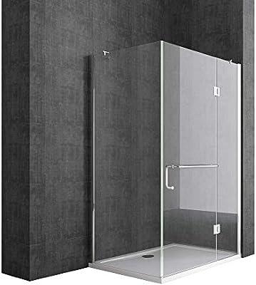 Sogood Cabina de ducha esquinera Rav04K 100x90x190cm, mampara de ...
