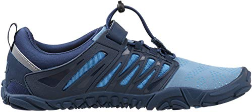 WHITIN Men's Trail Running Shoes Minimalist Barefoot 5 Five Fingers Wide Width Toe Box Gym Workout Fitness Low Zero Drop Male Walking Trainer Cross Training Crossfit Blue Size 8 by WHITIN (Image #4)