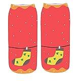 Clearance! Soft Socks For Men Fuzzy, 3D Cartoon Funny Christmas Crazy Cute Amazing Novelty Print Ankle Socks,