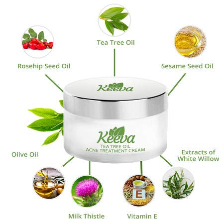 Keeva Organics Acne Treatment Cream With Secret Tea Tree Oil