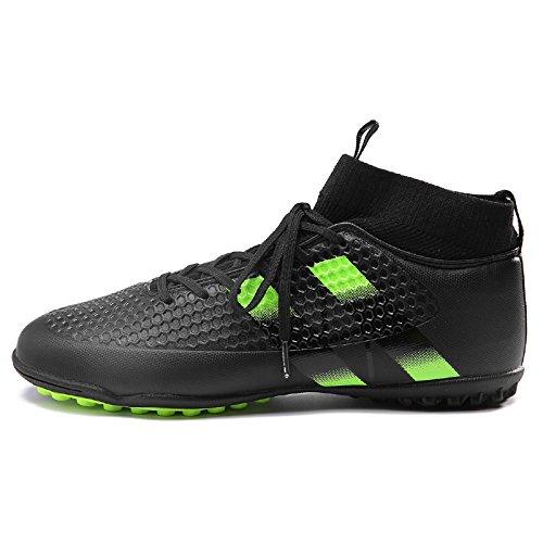 Xing Lin Chaussures De Football Chaussures De Football Homme Spike Nail Casse Les Chaussures Pour Enfants Tf Antidérapage Haut Gazon Artificiel DUsure Chaussures De Formation, 40, Noir