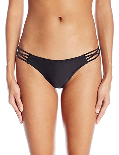 Volcom Junior's Women's Simply Solid Tiny Bikini Bottom, Black, (Tiny Bikini Swimwear)