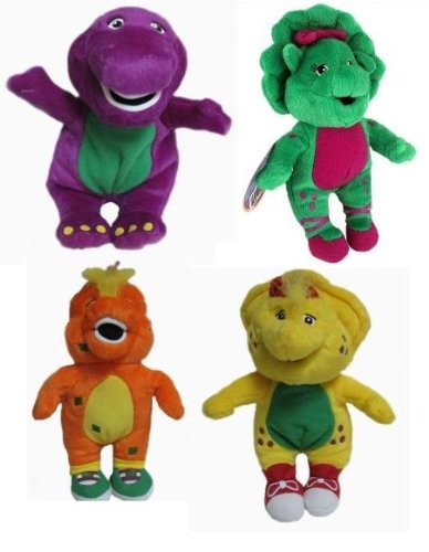 amazon com barney baby bop bj riff mini pals all four