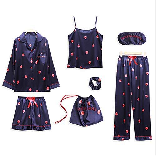 Night Sleepwear Abbigliamento Suit Pigiama Estate Home Photo Silk Meaeo Color Pigiama Primavera Femme Donne Per Le wY0PnqAz