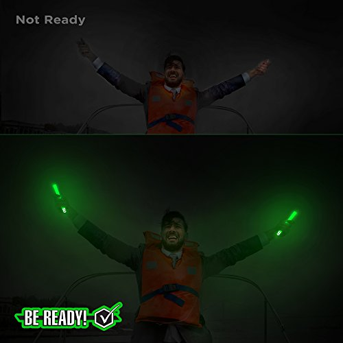 Be Ready Industrial 12 hour Illumination Emergency Safety Chemical Light Glow Sticks (36 Pack Green)